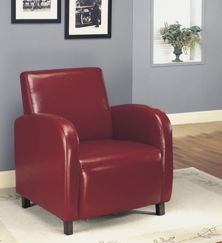 Chaise D'Appoint - Simili-Cuir Bourgogne