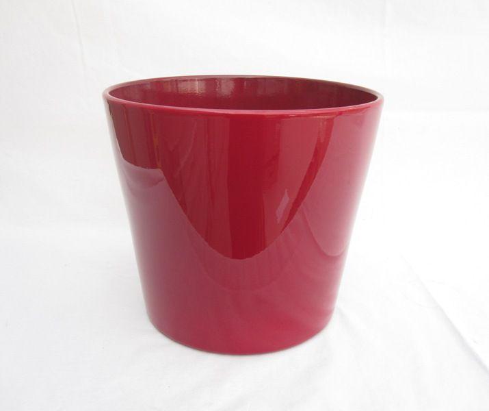 Ceramic Pot Round Red 10 Inch