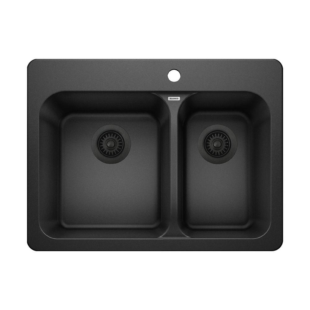 Silgranit, Natural Granite Composite Topmount Kitchen Sink, Anthracite