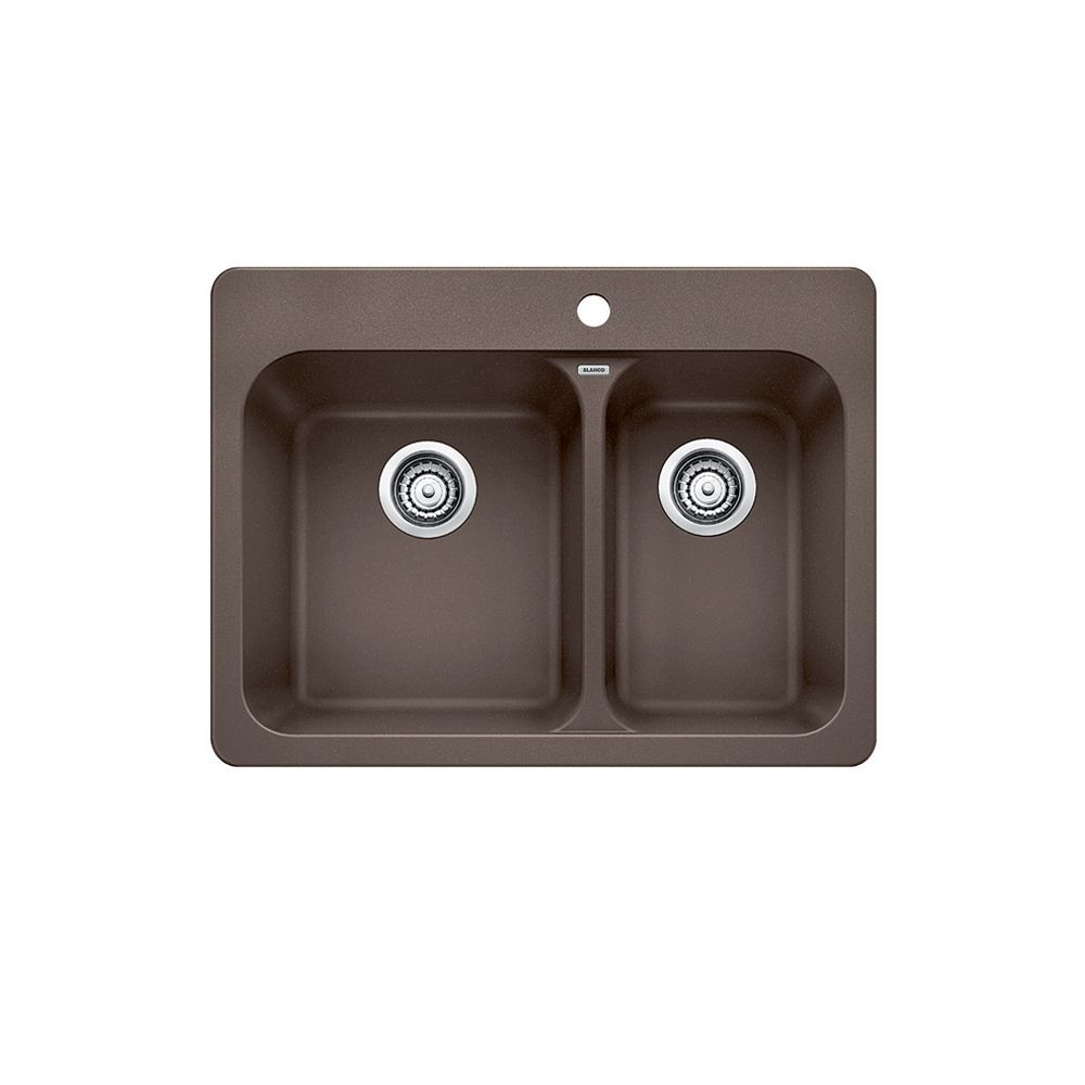 Silgranit, Natural Granite Composite Topmount Kitchen Sink, Caf SOP1267 Canada Discount