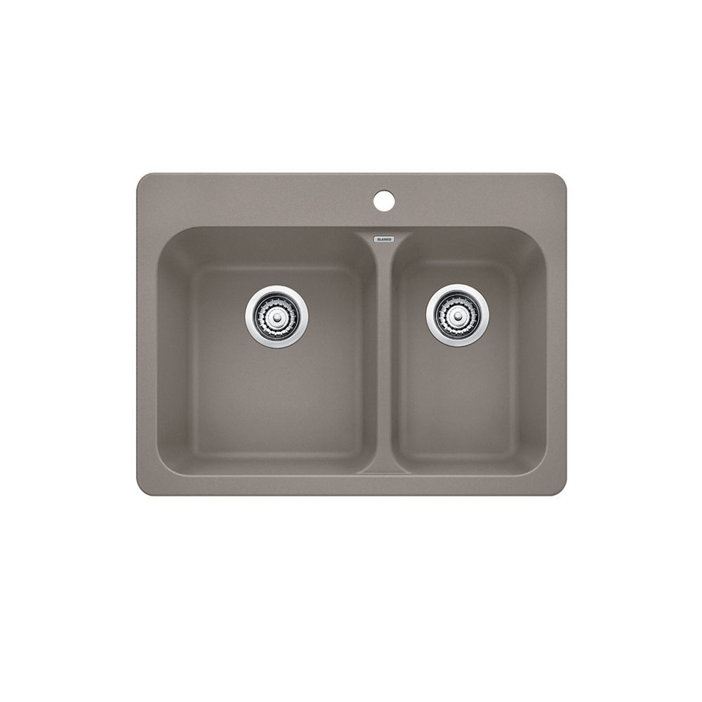 Granite Sink Price : Blanco Silgranit, Natural Granite Composite Topmount Kitchen Sink ...