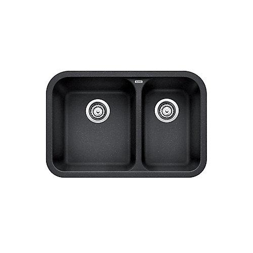 Vision U 1  Double Bowl Undermount Kitchen Sink, SILGRANIT Granite Composite
