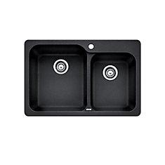 Silgranit, Natural Granite Composite top mount Kitchen Sink, Anthracite