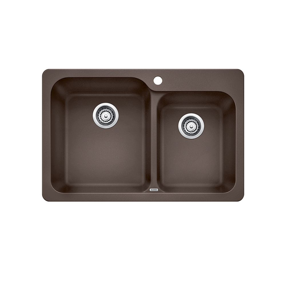 Silgranit, Natural Granite Composite Topmount Kitchen Sink, Caf SOP1275 Canada Discount