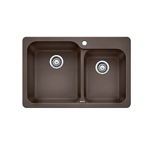 Silgranit, Natural Granite Composite top mount Kitchen Sink, Café