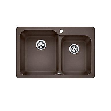 Silgranit Natural Granite Composite Topmount Kitchen Sink Café