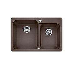 silgranit natural granite composite topmount kitchen sink caf