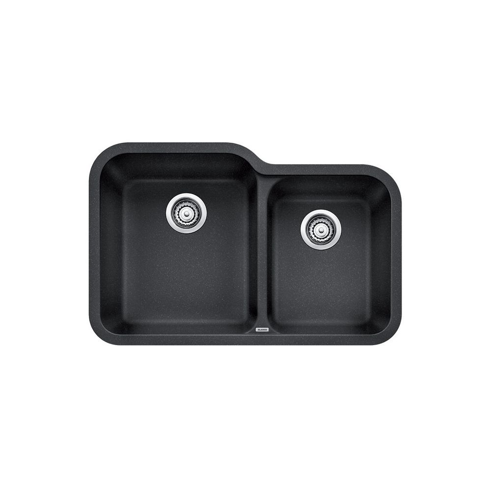 Silgranit, Natural Granite Composite Undermount Kitchen Sink, Anthracite SOP1278 Canada Discount