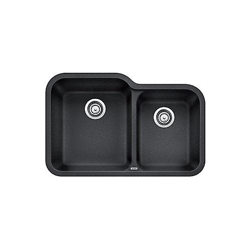 Vision U 1.75 SILGRANIT Granite Composite Double Bowl Undermount Kitchen Sink