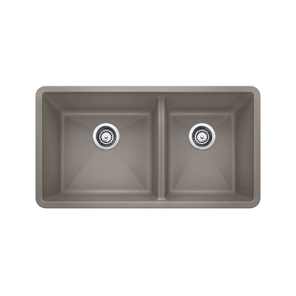 Silgranit, Natural Granite Composite Undermount Kitchen Sink, Truffle