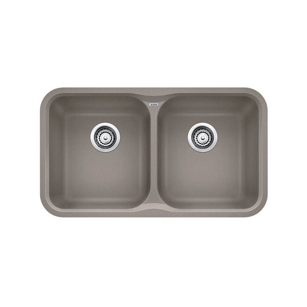 Silgranit, Natural Granite Composite Undermount Kitchen Sink, Truffle
