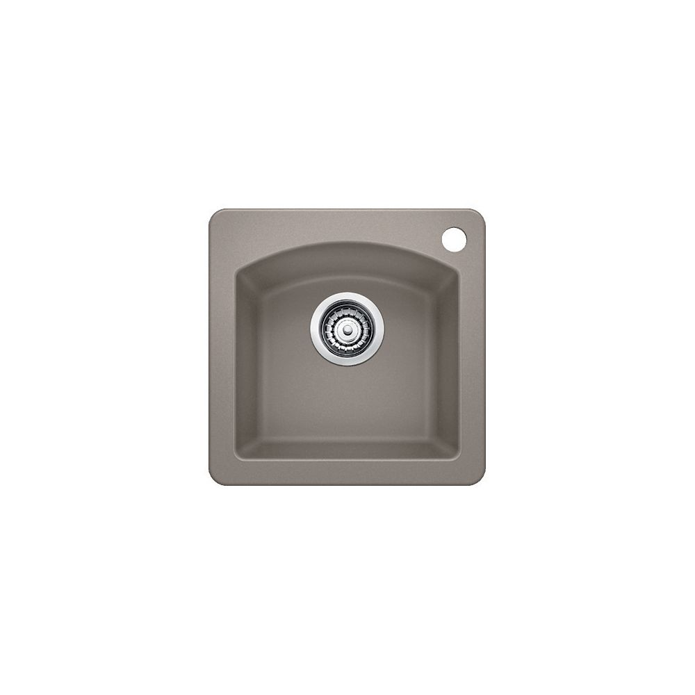 Silgranit, Natural Granite Composite Topmount Island Sink, Truffle SOP1293 in Canada