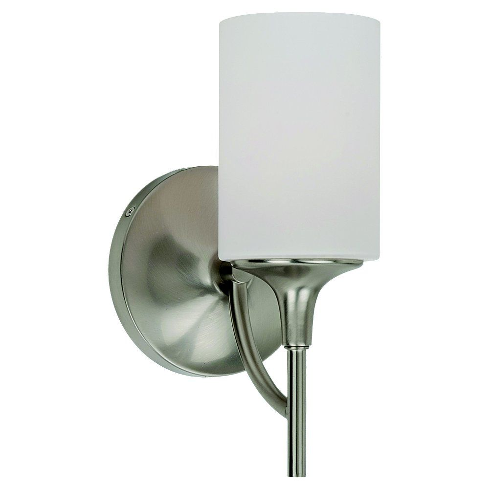 1 Light Brushed Nickel Incandescent Bathroom Vanity