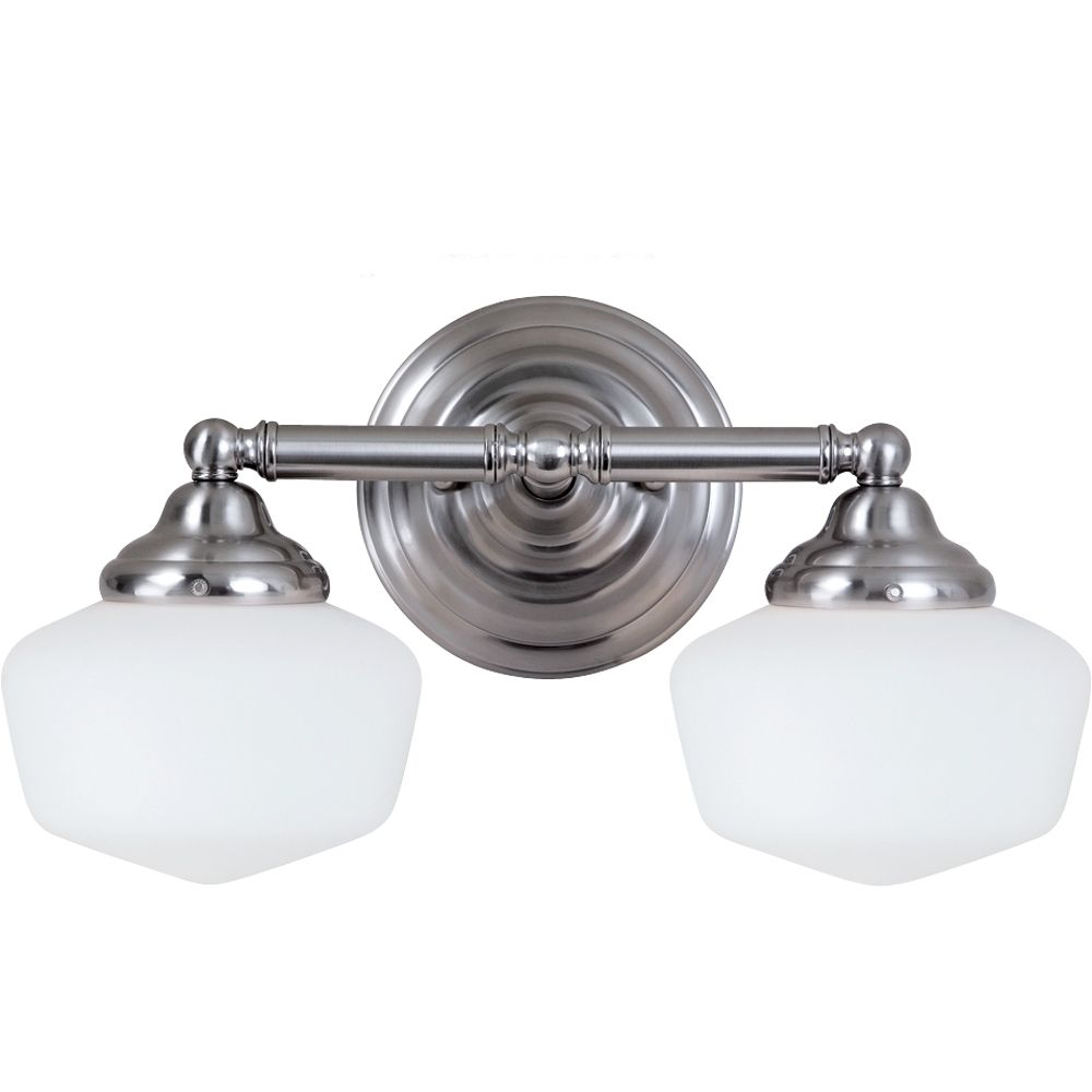 2 Light Brushed Nickel Fluorescent Bathroom Vanity 44437BLE-962 in Canada