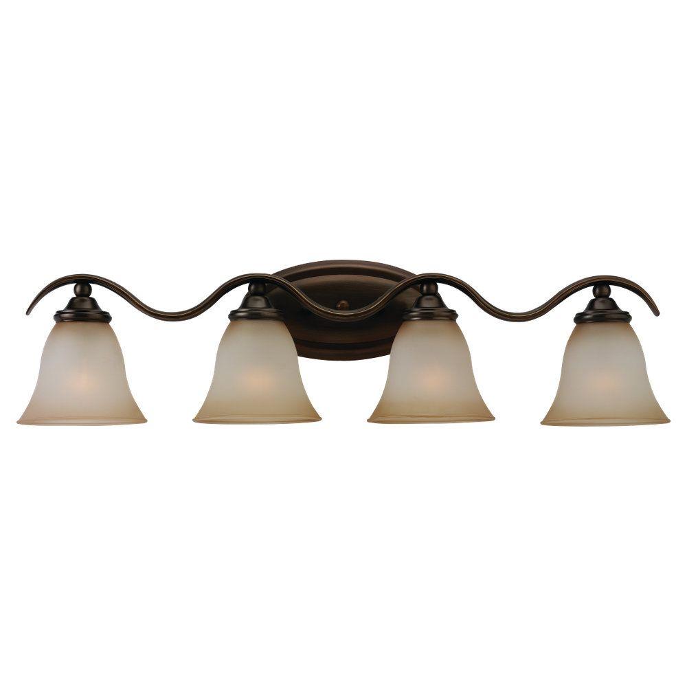 Lumière Seagull fixée au mur à quatre ampoules avec abat-jour de spécialité, Fini bronze