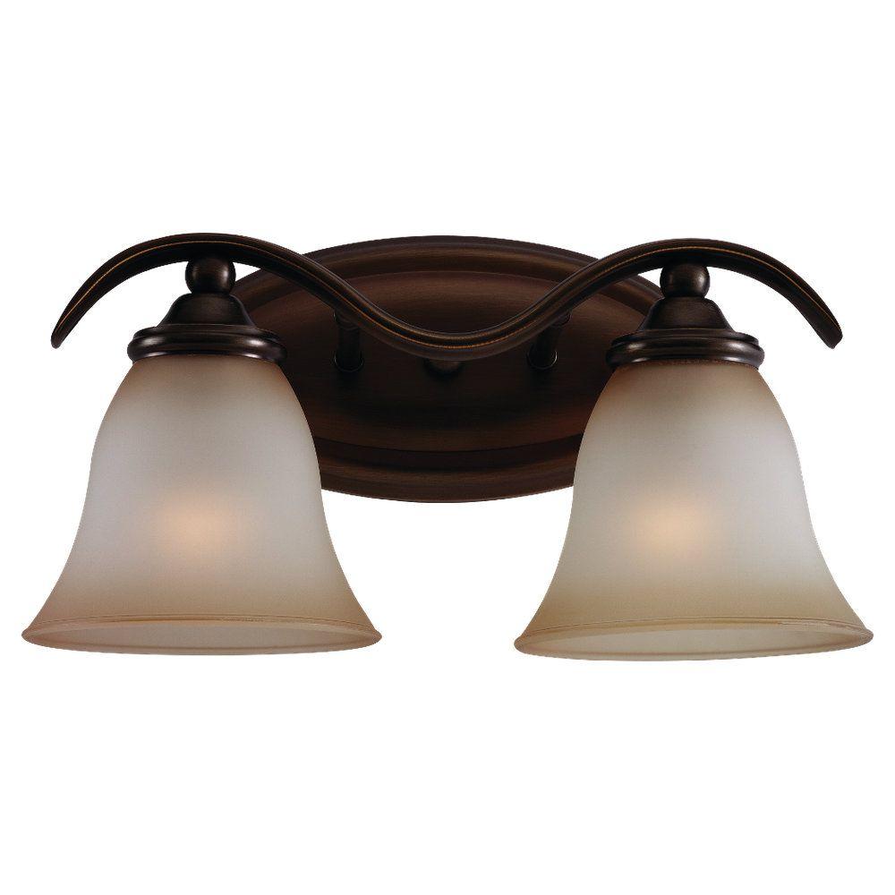 2-Light Russet Bronze Bathroom Vanity