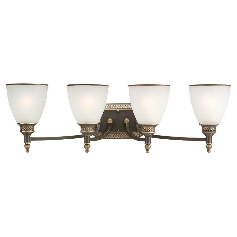 4-Light Estate Bronze Bathroom Vanity