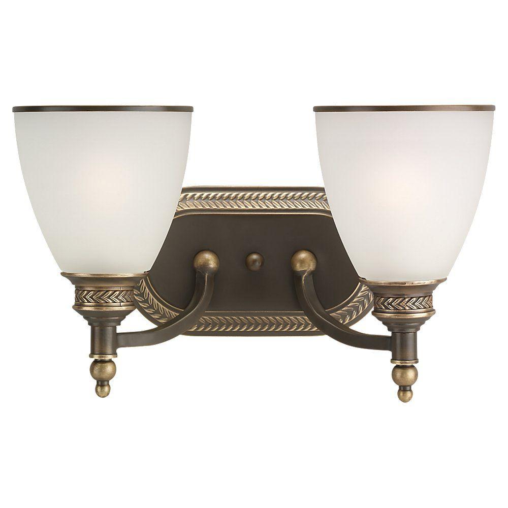 Lumière Seagull fixée au mur à deux ampoules avec abat-jour de spécialité, Fini bronze