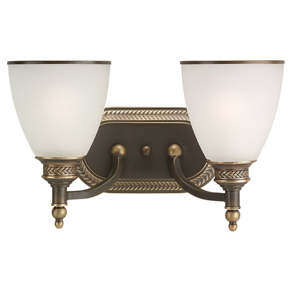 2-Light Estate Bronze Bathroom Vanity