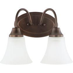 Sea Gull Lighting 2-Light Bell Metal Bronze Bathroom Vanity