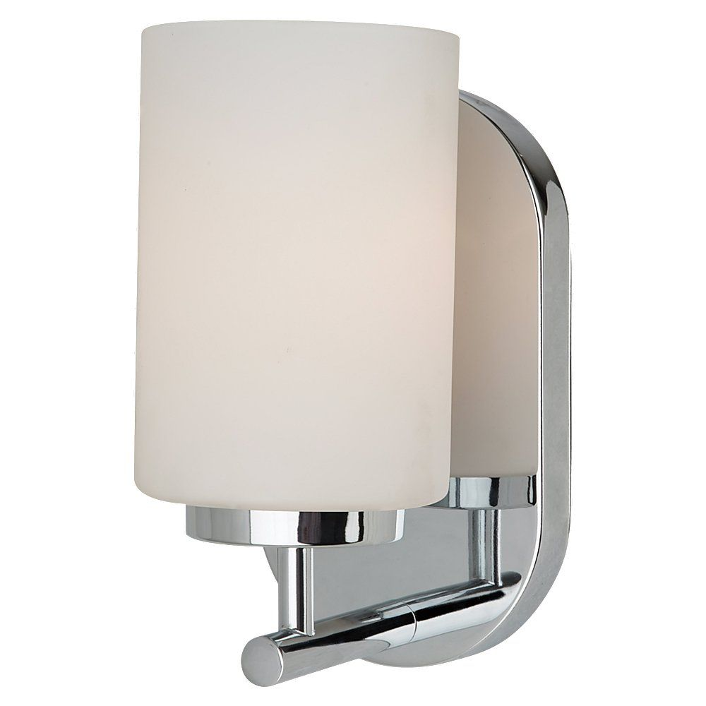 1 Light Chrome Fluorescent Bathroom Vanity