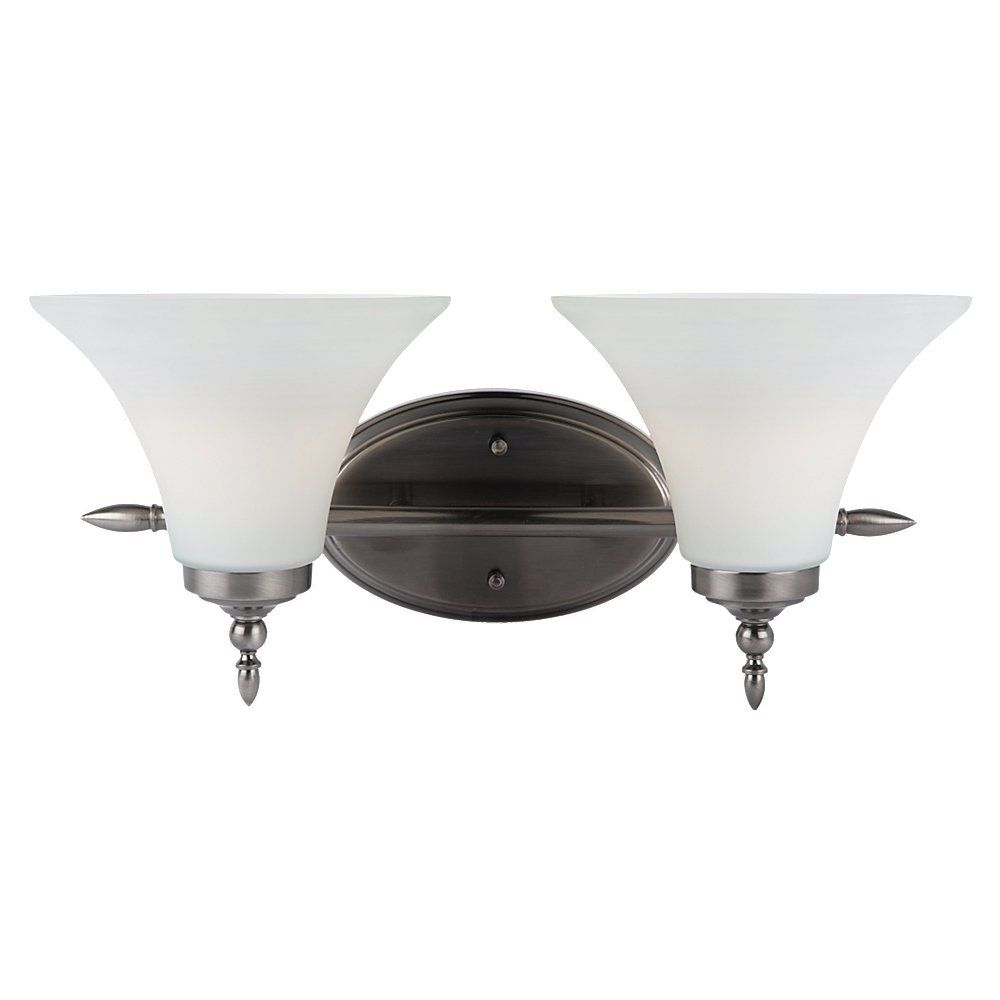 2-Light Antique Brushed Nickel Bathroom Vanity