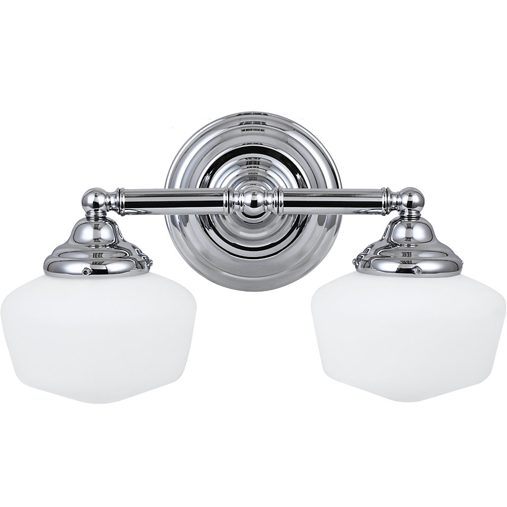2-Light Bathroom Vanity Light Fixture in Chrome