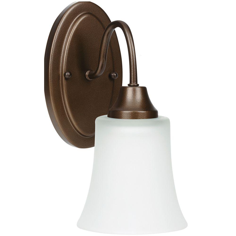 Lumière Seagull fixée au mur à une ampoule avec abat-jour de spécialité, Fini bronze