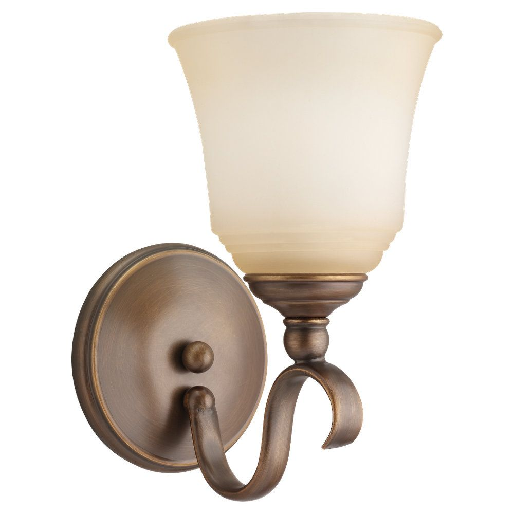 1 Light Russet Bronze Fluorescent Bathroom Vanity