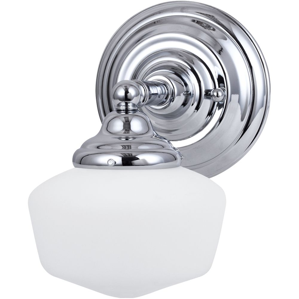 1 Light Chrome Fluorescent Bathroom Vanity