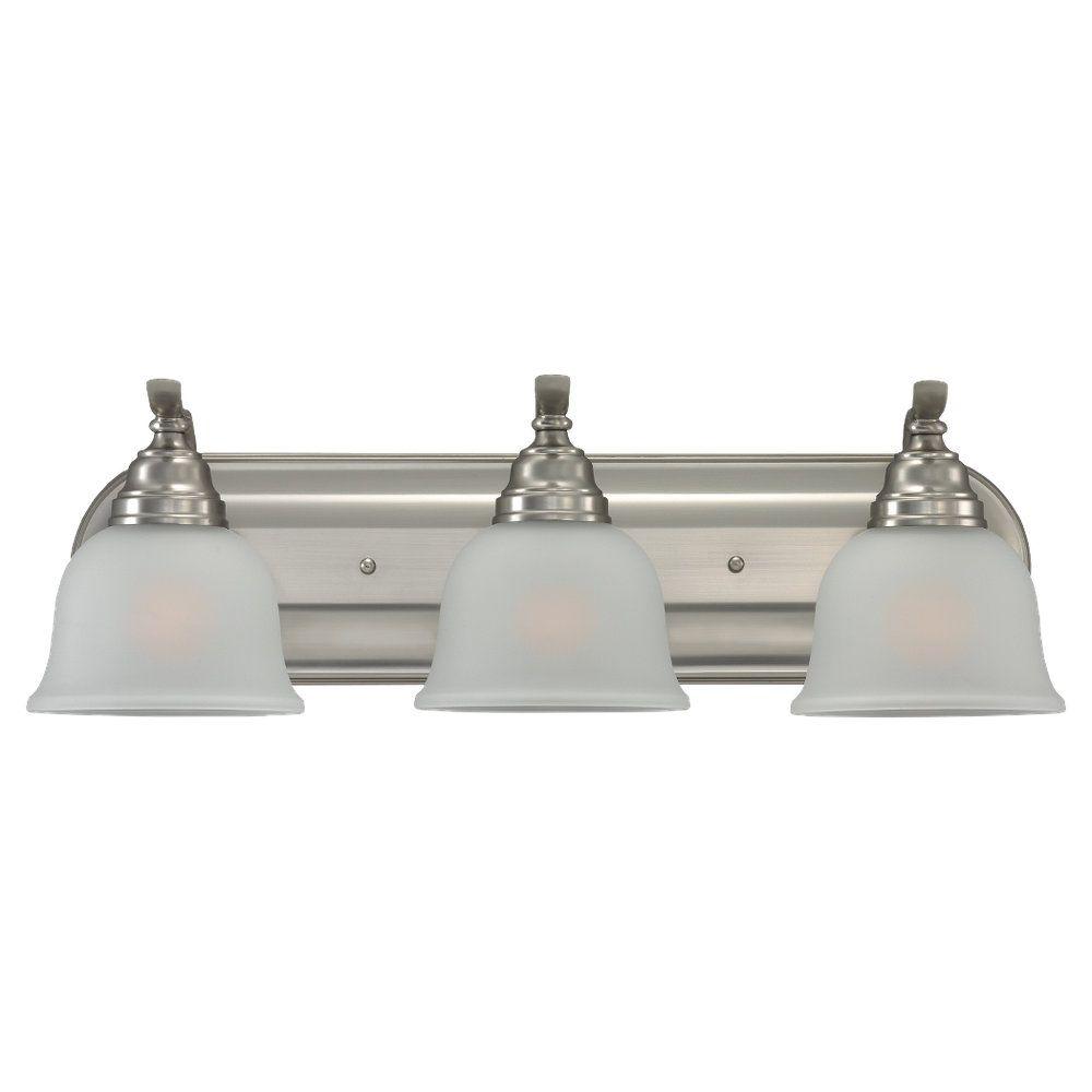 3-Light Brushed Nickel Bathroom Vanity