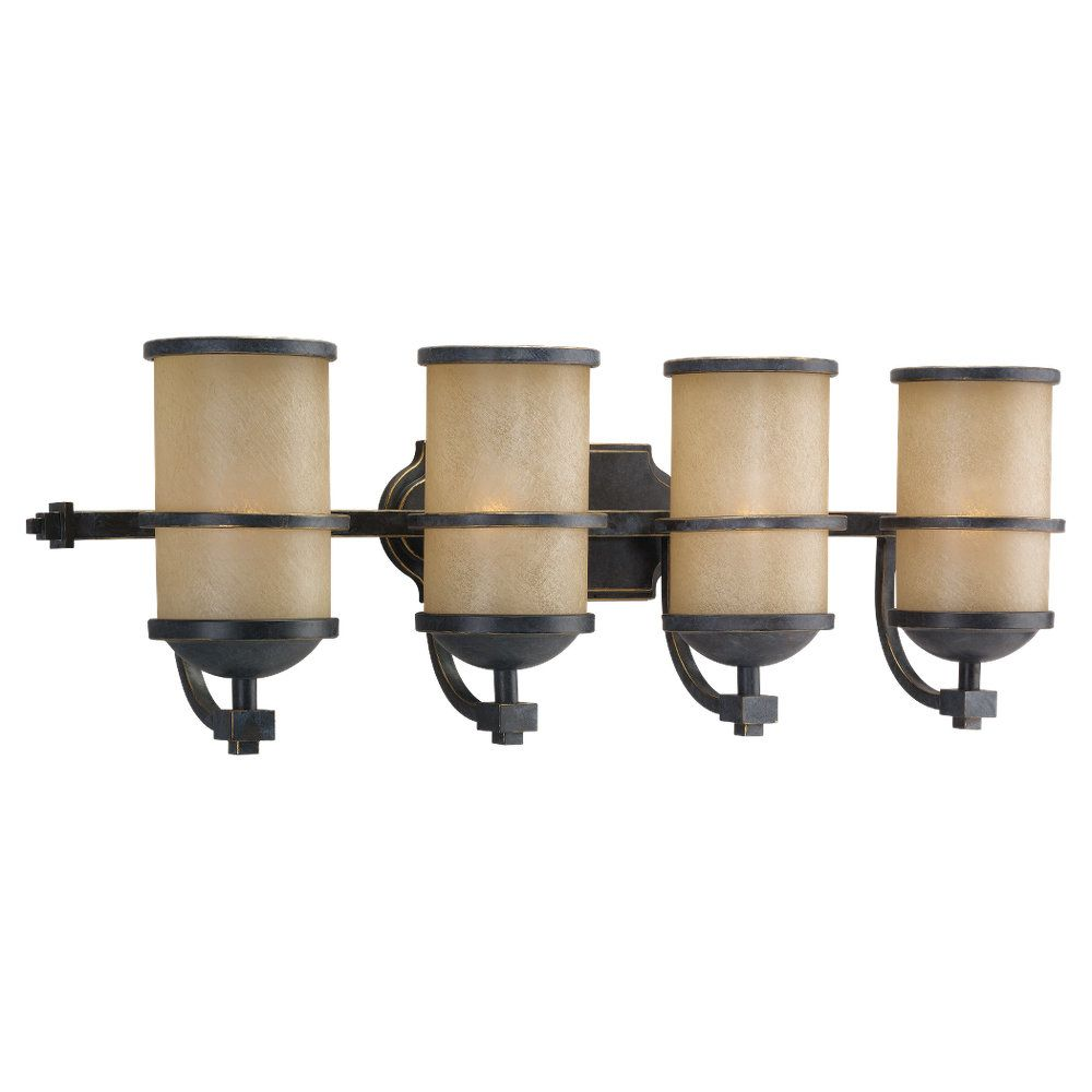 4 Light Flemish Bronze Incandescent Bathroom Vanity 44523-845 Canada Discount