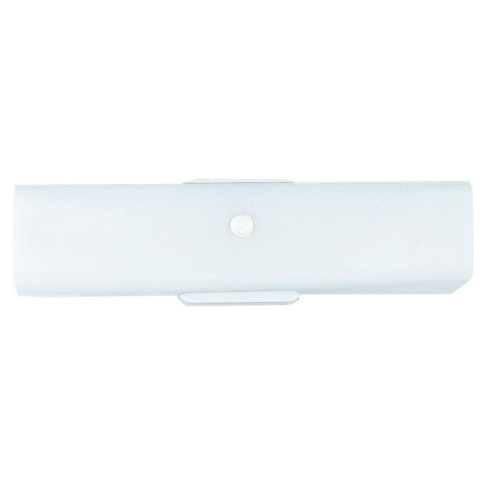 2-Light White Bathroom Vanity