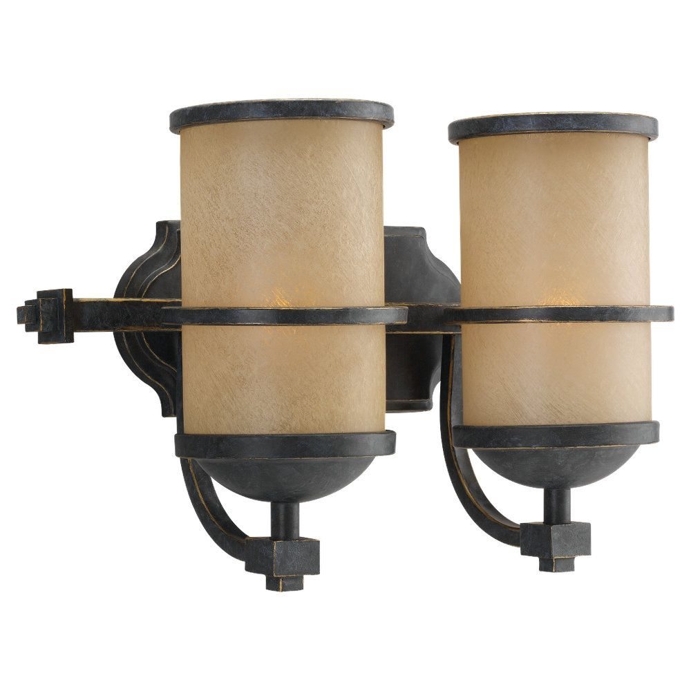 2 Light Flemish Bronze Incandescent Bathroom Vanity
