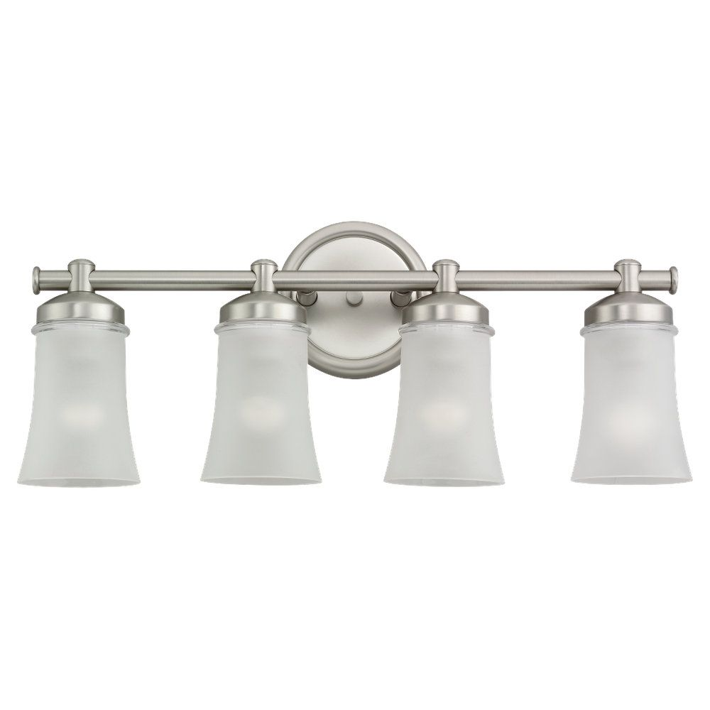 4-Light Antique Brushed Nickel Bathroom Vanity