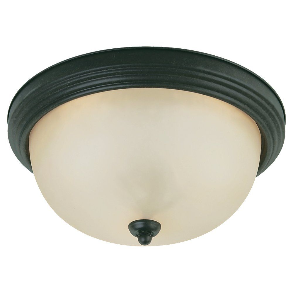 2 Light Chestnut Bronze Incandescent Ceiling Fixture