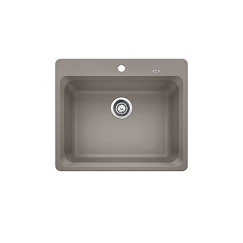 Blanco VISION 1, Single Bowl Drop-in Kitchen Sink, SILGRANIT Truffle