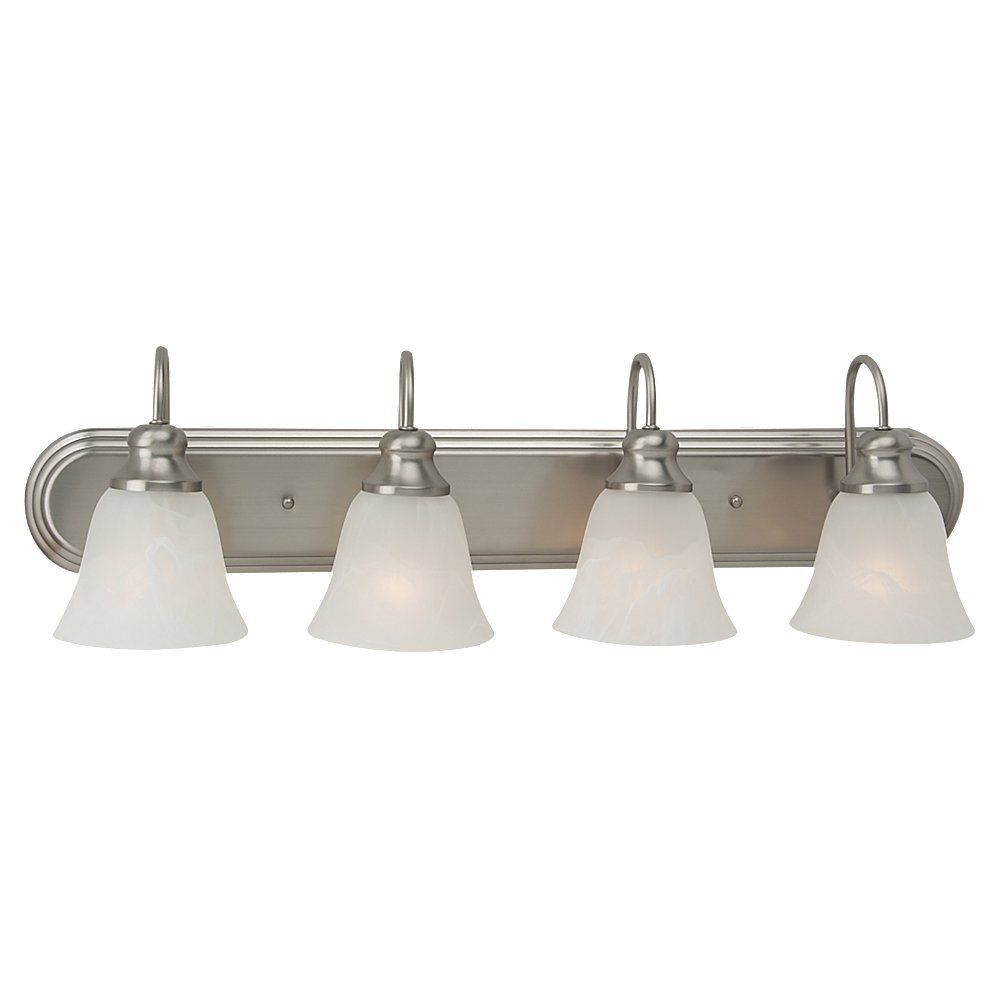 4 Light Brushed Nickel Incandescent Bathroom Vanity