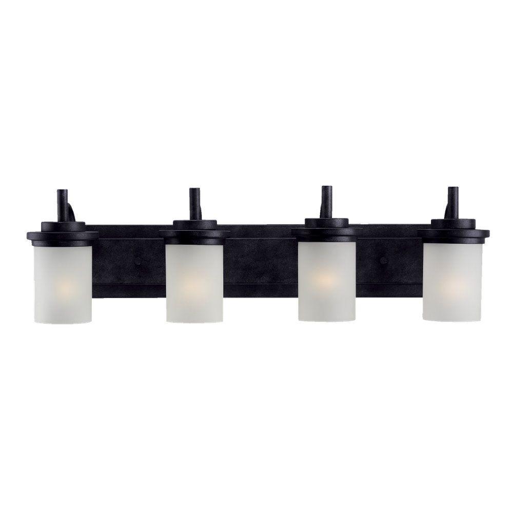 4-Light Blacksmith Bathroom Vanity