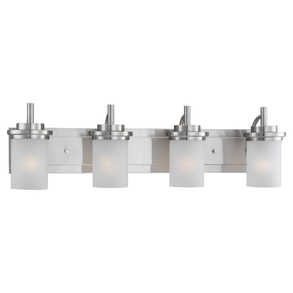 Vanity Light Home Depot: Sea Gull Lighting 4-Light Brushed Nickel Bathroom Vanity