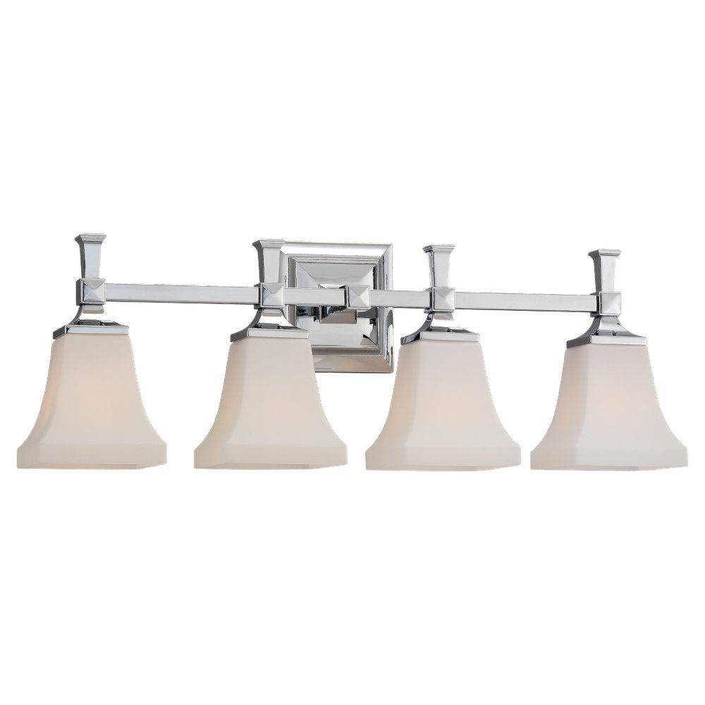 4 Light Chrome Incandescent Bathroom Vanity