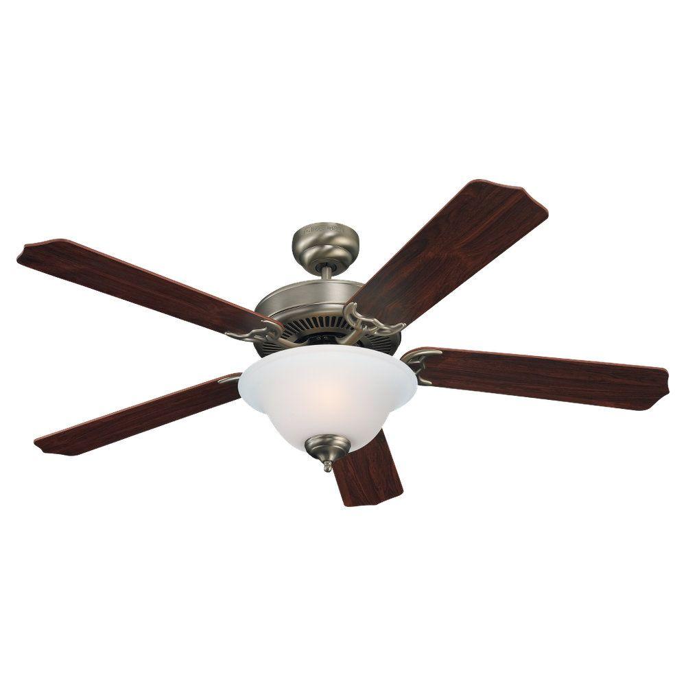 Ventillateur de plafond Seagull à deux ampoules avec abat-jour de spécialité, finition de spécial...