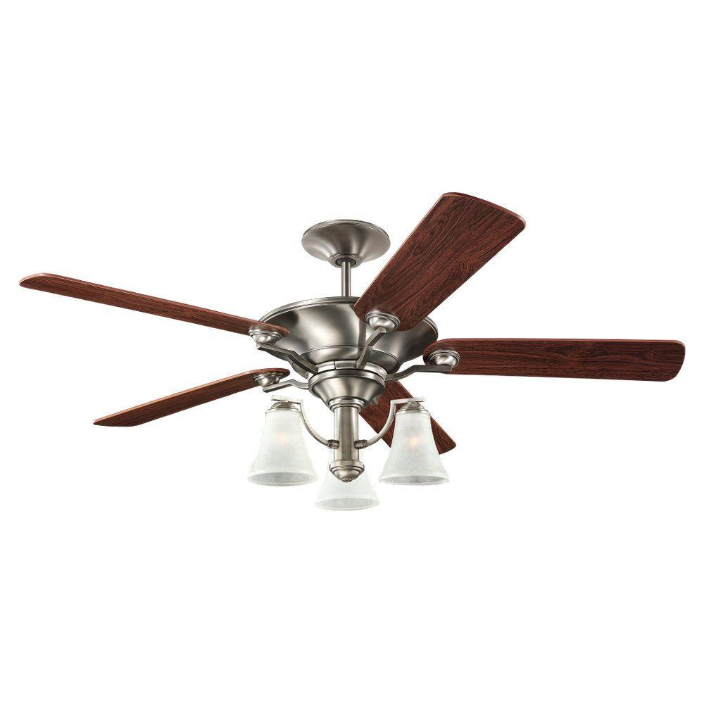 52 Inch Indoor Antique Brushed Nickel Ceiling Fan