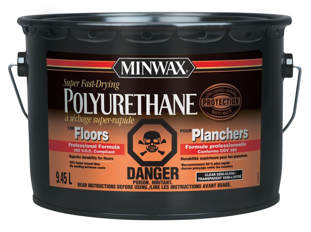 Polyuréthane à séchage super rapide pour planchers (VOC) - Semi-Lustré