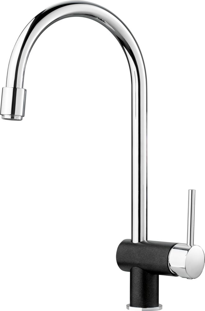 Single-Lever Pull-Down Faucet, Chrome/Anthracite