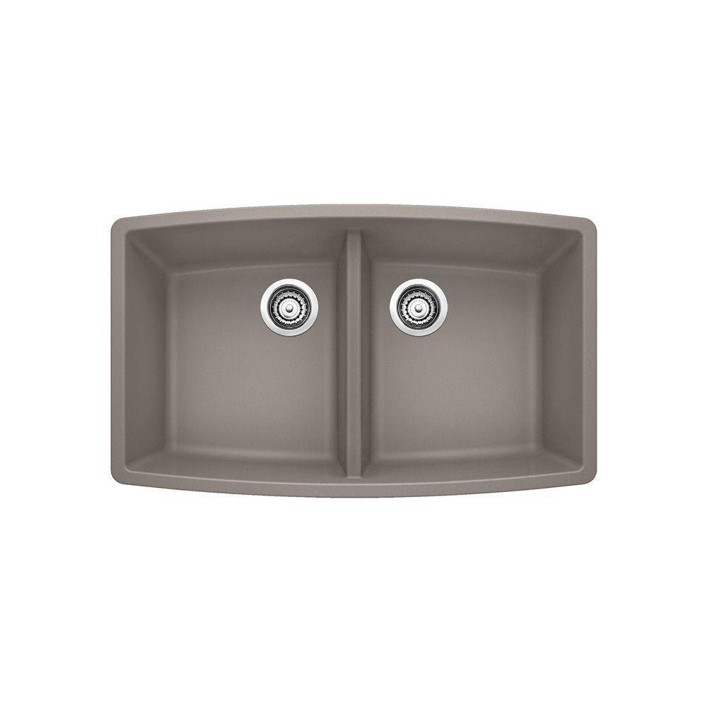 Silgranit, composé, composite de granit naturel, évier de cuisine à montage sous plan, Silgranit ...