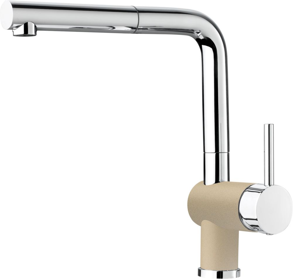 Single-Lever Pull-Out Faucet, Biscotti/Chrome