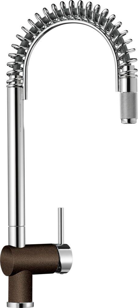 Semi-Pro Faucet, Chrome/Café