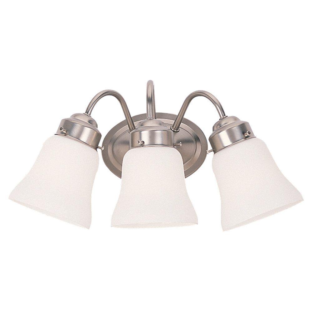 Lumière Seagull fixée au mur à trois ampoules avec abat-jour blanc, finition de spécialité