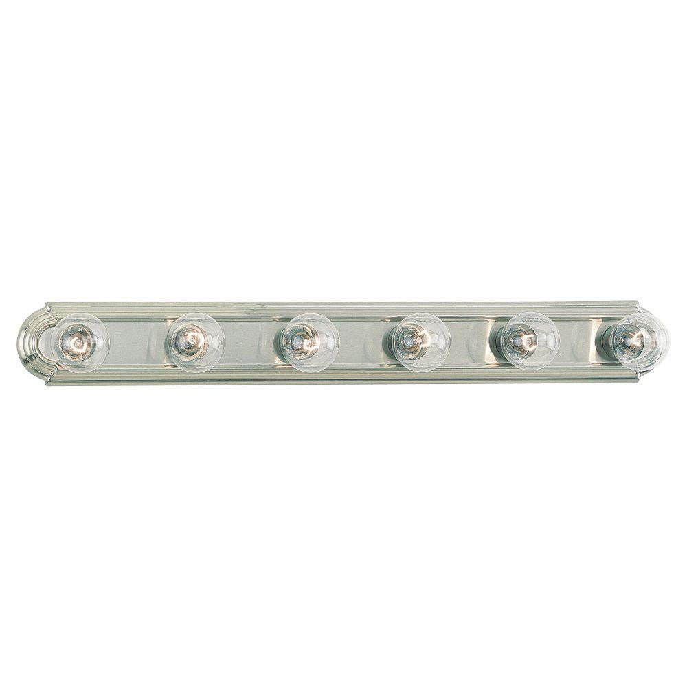 Lumière Seagull fixée au mur à six ampoules avec abat-jour de spécialité, finition de spécialité